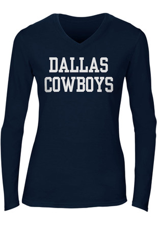 Cowboys Womens Navy Blue Coaches Too T-Shirt