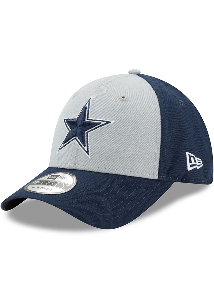 Dallas Cowboys The League Blocked 9FORTY Adjustable Hat - Navy Blue - Image 1