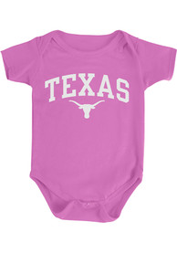 Texas Longhorns Baby Pink Arch One Piece