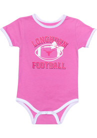 Texas Longhorns Baby Pink Grace One Piece