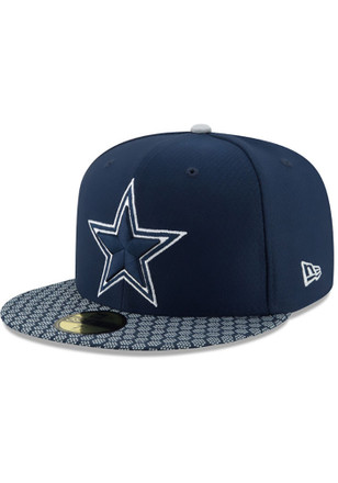 info for f72a1 7f7ed Dallas Cowboys Navy Blue 2017 Sideline 59FIFTY Fitted Hat