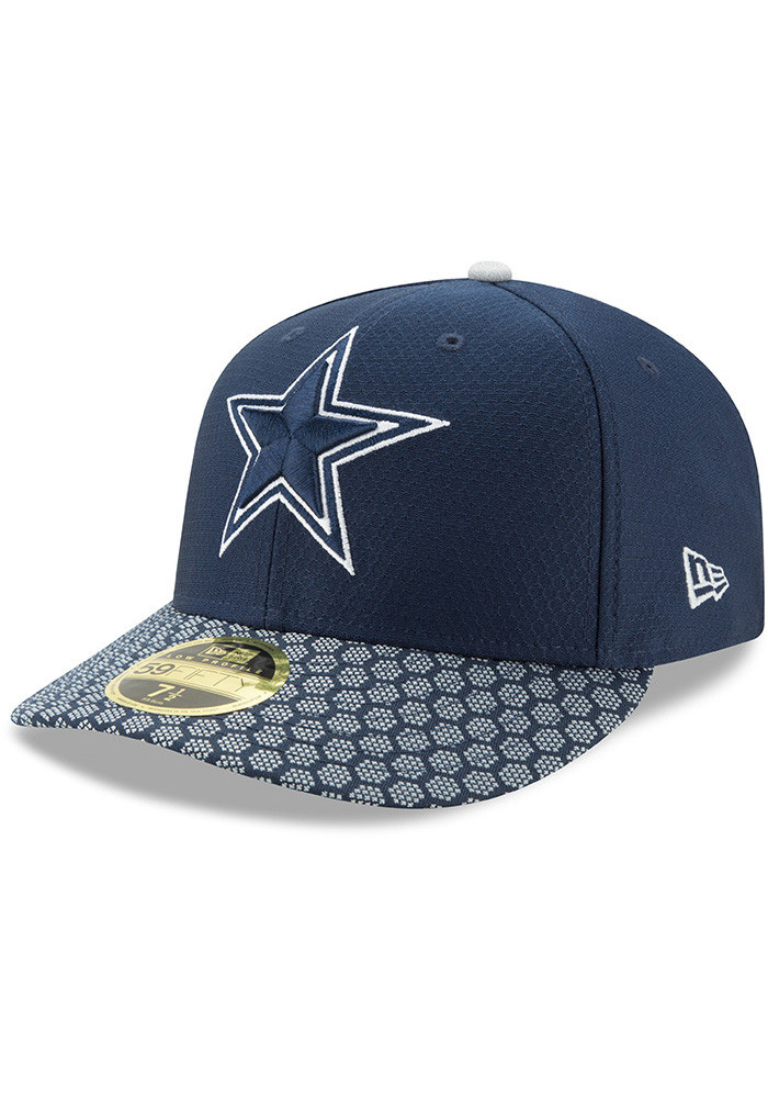 timeless design f9f30 a4ecb Dallas Cowboys Navy Blue 2017 Sideline LP 59FIFTY Fitted Hat