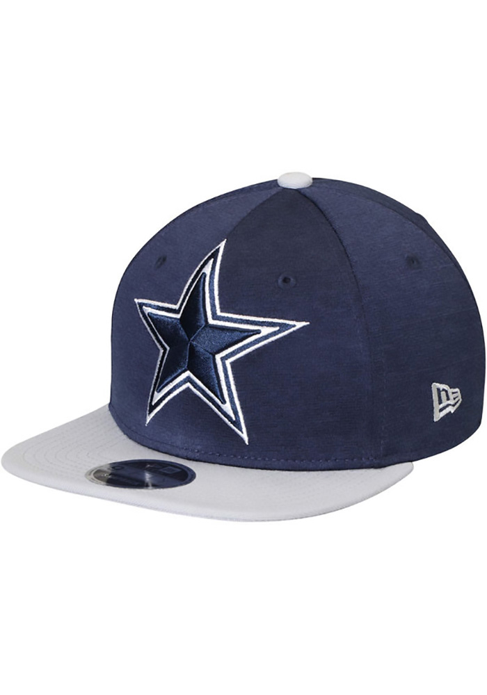 Dallas Cowboys Mens Navy Blue Heather Huge 59FIFTY Fitted Hat - Image 1