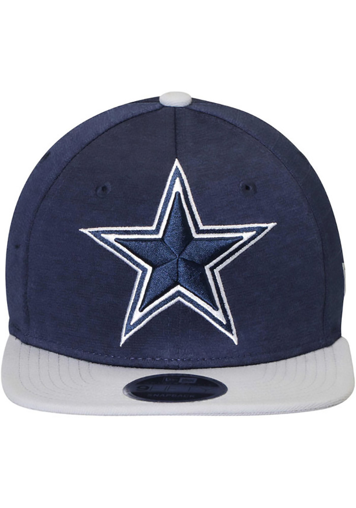 Dallas Cowboys Mens Navy Blue Heather Huge 59FIFTY Fitted Hat - Image 2