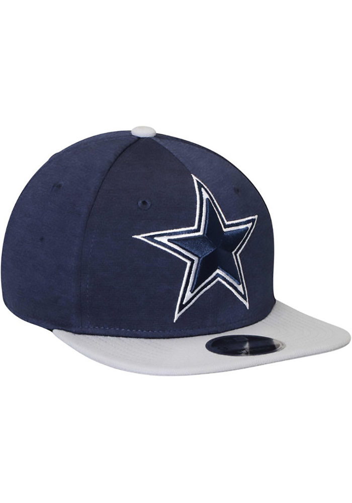 Dallas Cowboys Mens Navy Blue Heather Huge 59FIFTY Fitted Hat - Image 3
