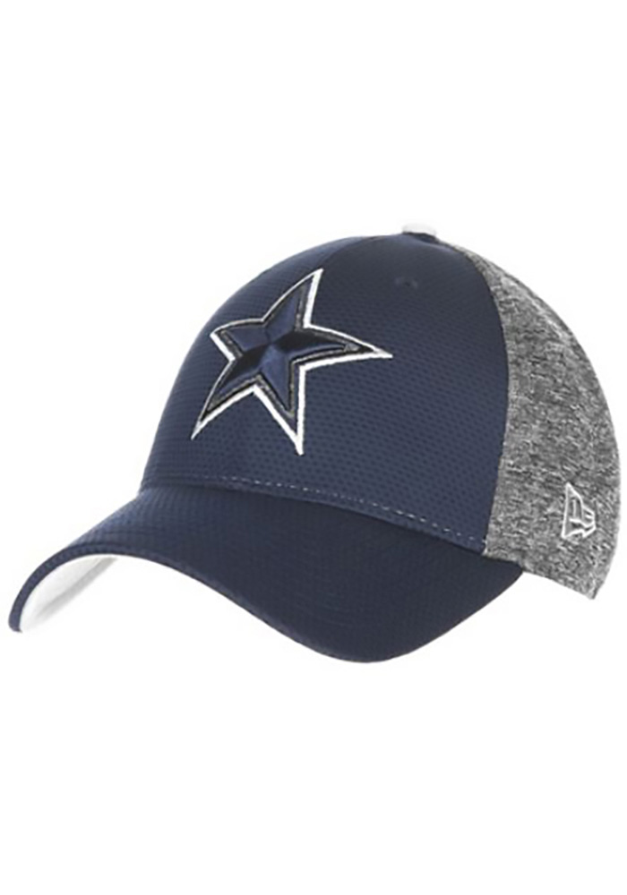 Dallas Cowboys Mens Navy Blue Fierce Fill 39THIRTY Flex Hat - Image 1