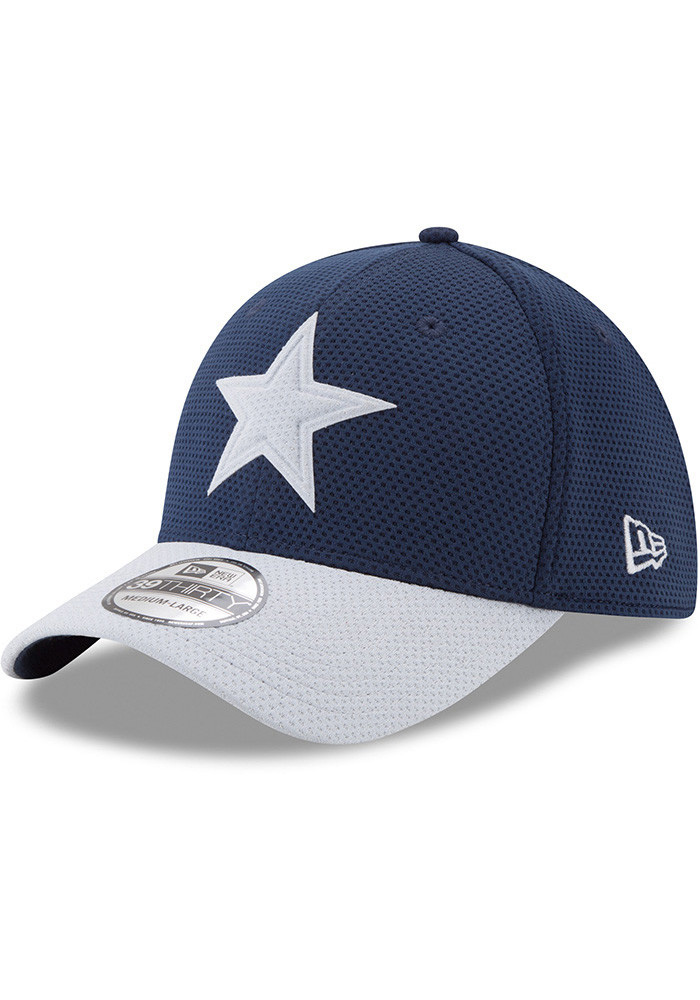 Dallas Cowboys Mens Navy Blue Logo Surge 39THIRTY Flex Hat - Image 1
