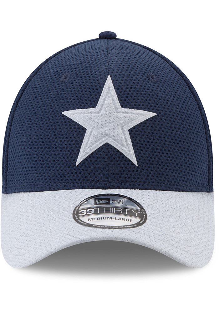 Dallas Cowboys Mens Navy Blue Logo Surge 39THIRTY Flex Hat - Image 2