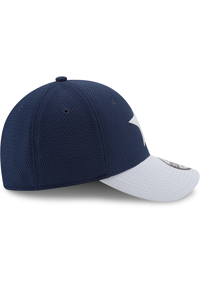 Dallas Cowboys Mens Navy Blue Logo Surge 39THIRTY Flex Hat - Image 3