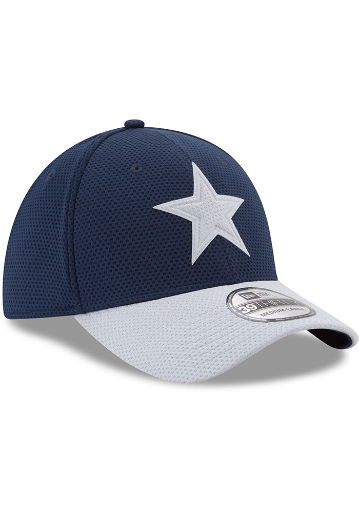 Dallas Cowboys Mens Navy Blue Logo Surge 39THIRTY Flex Hat - Image 6