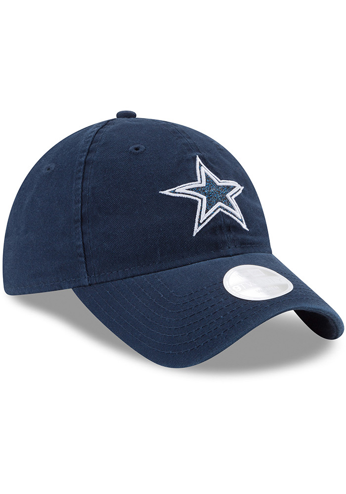 Dallas Cowboys Navy Blue Team Glisten Tonal LS 9TWENTY Womens Adjustable Hat - Image 1