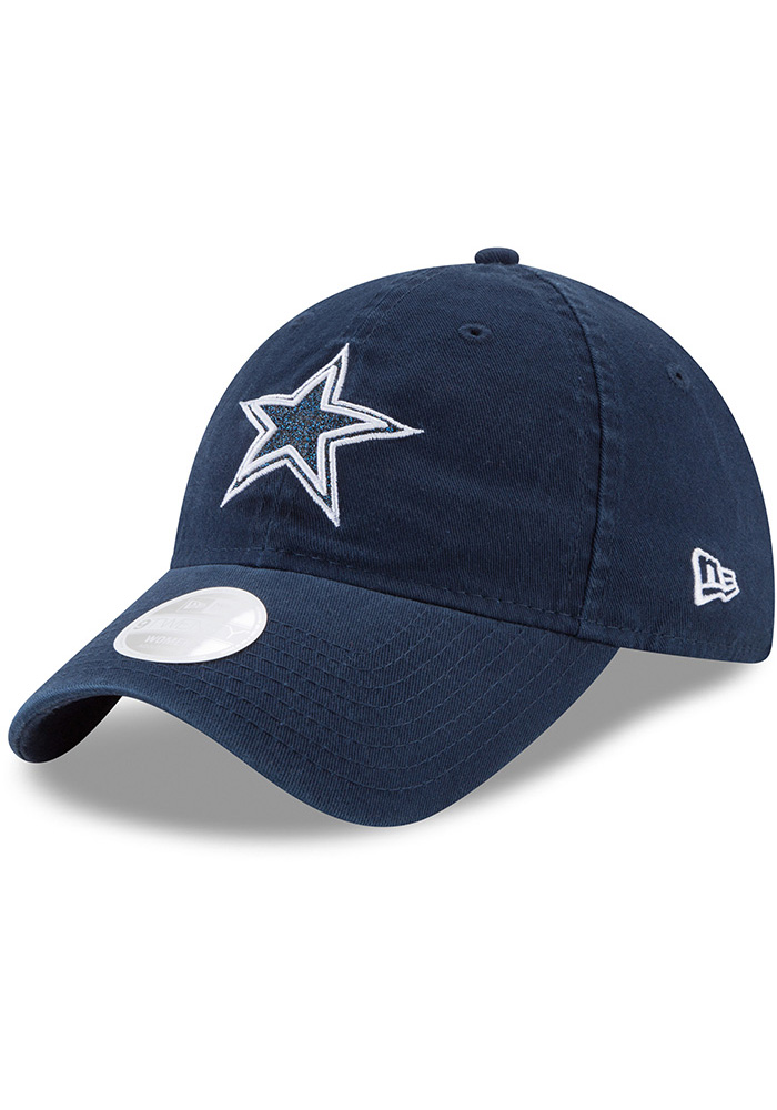 Dallas Cowboys Navy Blue Team Glisten Tonal LS 9TWENTY Womens Adjustable Hat - Image 2