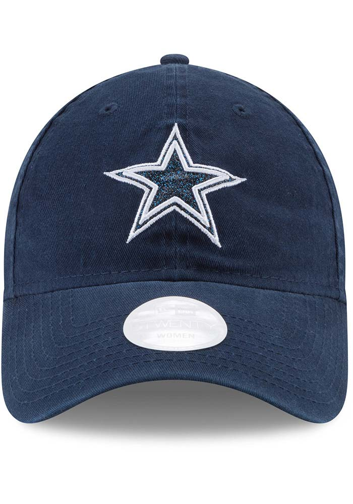 Dallas Cowboys Navy Blue Team Glisten Tonal LS 9TWENTY Womens Adjustable Hat - Image 3