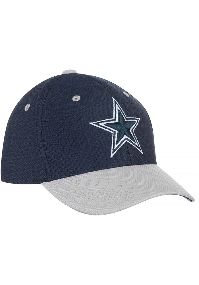 Dallas Cowboys Navy Blue Glimer Youth Adjustable Hat - Image 1