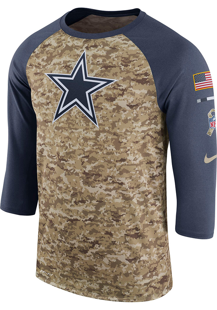 Dallas Cowboys NFL Mens Nike Salute to Service Local Long Sleeve Tee