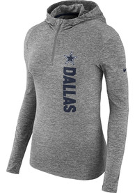 Nike Dallas Cowboys Womens Grey Element Hoodie
