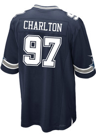 Taco Charlton Dallas Cowboys Dallas Cowboys Apparel Road Game Football Jersey - Navy Blue