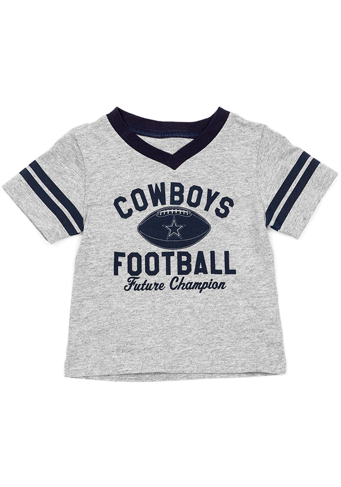 Dallas Cowboys Infant Benge Short Sleeve T-Shirt Grey - Image 1