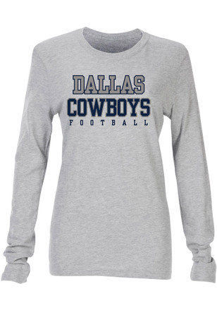 Cowboys Womens Practice Glitter Grey T-Shirt