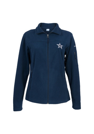 Cowboys Womens Navy Blue Give and Go Full Zip Jacket
