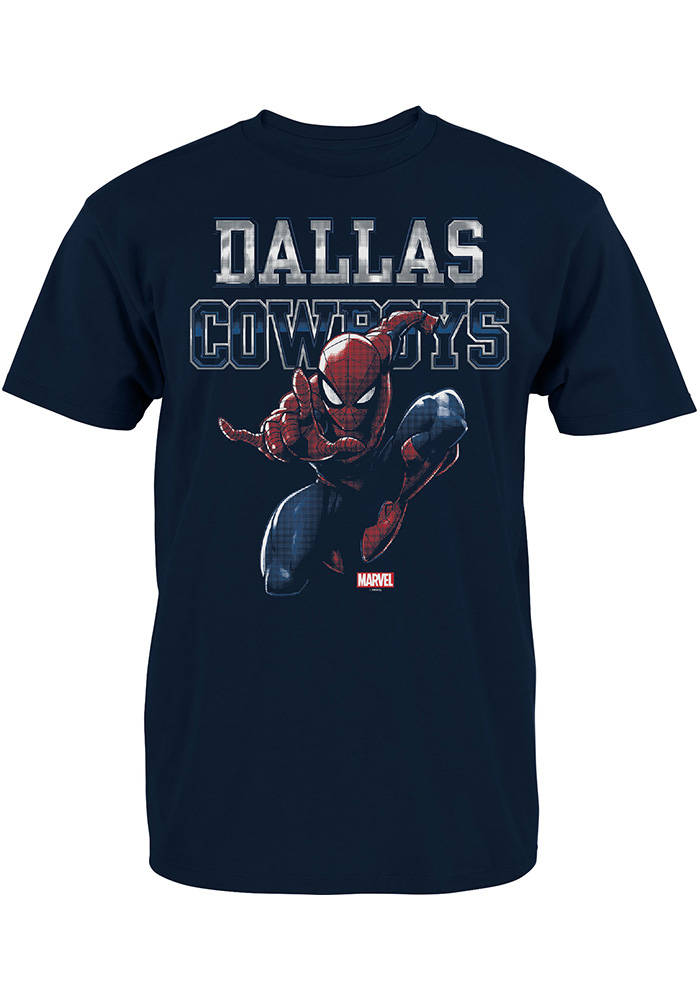 Dallas Cowboys Youth Navy Blue Spidey Fearless Short Sleeve T-Shirt - Image 1