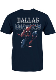 Dallas Cowboys Youth Navy Blue Spidey Fearless T-Shirt