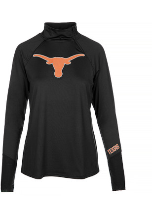 Texas Longhorns Womens Payne Shock Black 1/4 Zip Pullover