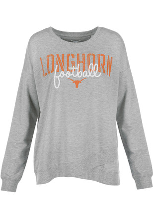 Texas Longhorns Womens Helen Grey Crew Sweatshirt