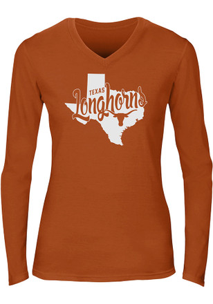 Texas Longhorns Womens Orange Emilie T-Shirt