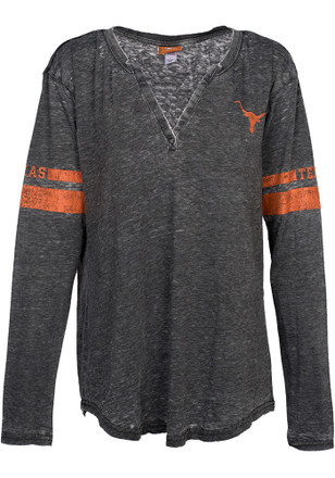 Texas Longhorns Womens Grey Barnes T-Shirt