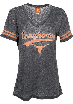 Texas Longhorns Womens Grey Doral V-Neck