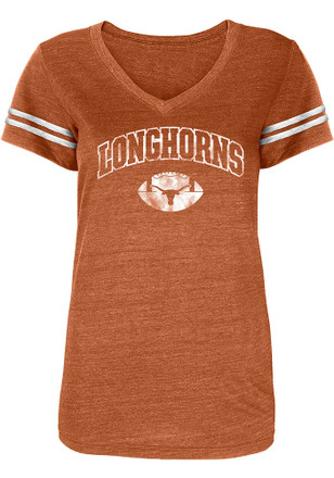 Texas Longhorns Womens White Monroe V-Neck