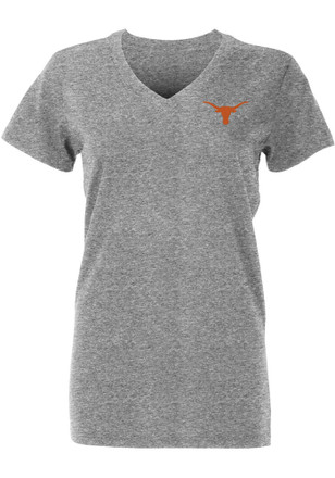 Texas Longhorns Womens Grey Keelin V-Neck