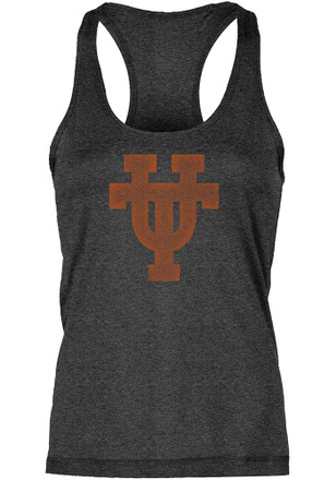 Texas Longhorns Womens Black Worn UT Interlock Tank Top