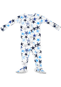 Dallas Cowboys Baby Colby White Colby One Piece Pajamas