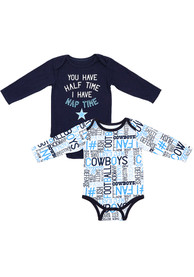 Dallas Cowboys Baby Navy Blue Gatson One Piece
