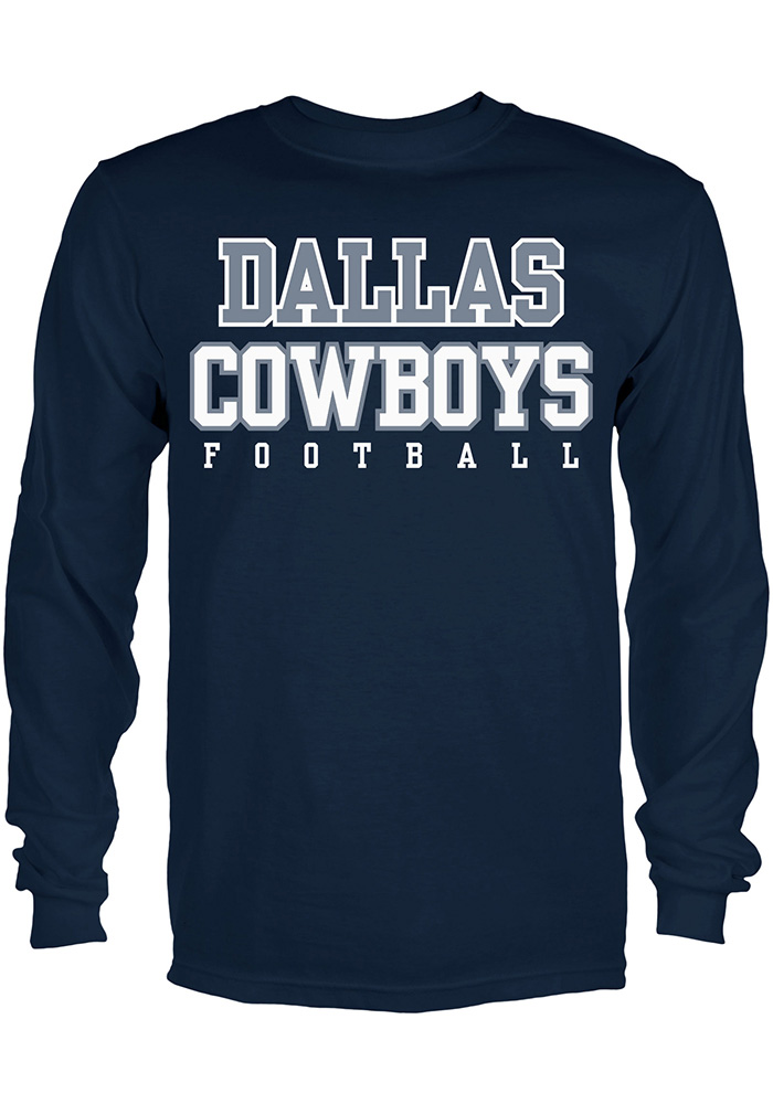 Dallas Cowboys Youth Navy Blue Practice Long Sleeve T-Shirt - 41021447 ca4429fe1