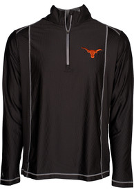 Antigua Texas Longhorns Black Tempo 1/4 Zip Pullover
