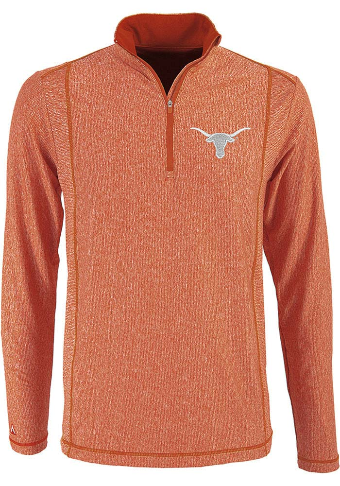 Antigua Texas Longhorns Burnt Orange Tempo 1 4 Zip Pullover 1ae6967f3