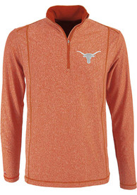 Antigua Texas Longhorns Burnt Orange Tempo 1/4 Zip Pullover