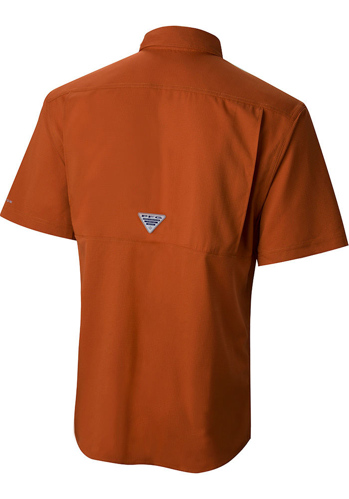 Columbia Texas Longhorns Mens Burnt Orange Low Drag Short Sleeve Dress Shirt - Image 2