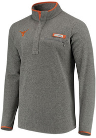 Columbia Texas Longhorns Womens Harborside Grey 1/4 Zip Pullover
