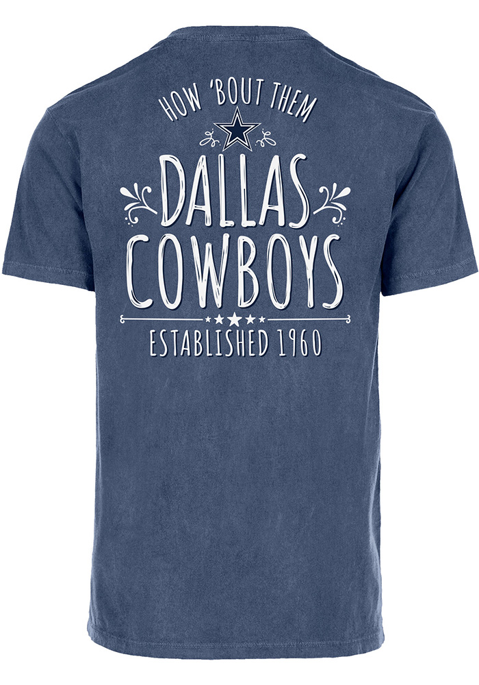 Dallas Cowboys Womens Navy Blue Dallas Roots Short Sleeve Unisex Tee - Image 1