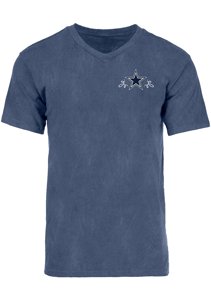 Dallas Cowboys Womens Navy Blue Dallas Roots Short Sleeve Unisex Tee - Image 2