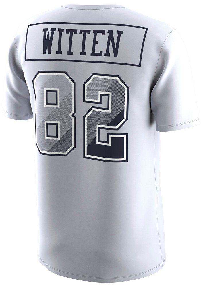 Jason Witten Dallas Cowboys White Prism Name & Number Short Sleeve Player T Shirt - Image 1
