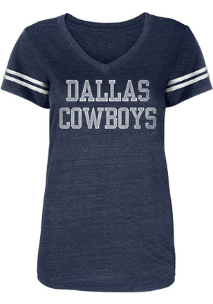 Dallas Cowboys Womens Navy Blue Worn Coaches V-Neck d002b9b23