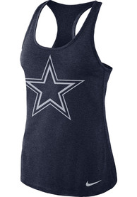 Nike Dallas Cowboys Womens Navy Blue DF Touch Tank Top