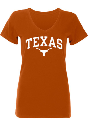 Texas Longhorns Womens Orange Arch V-Neck
