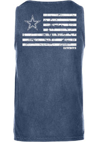 Dallas Cowboys Womens Navy Blue Faithful USA Tank Top