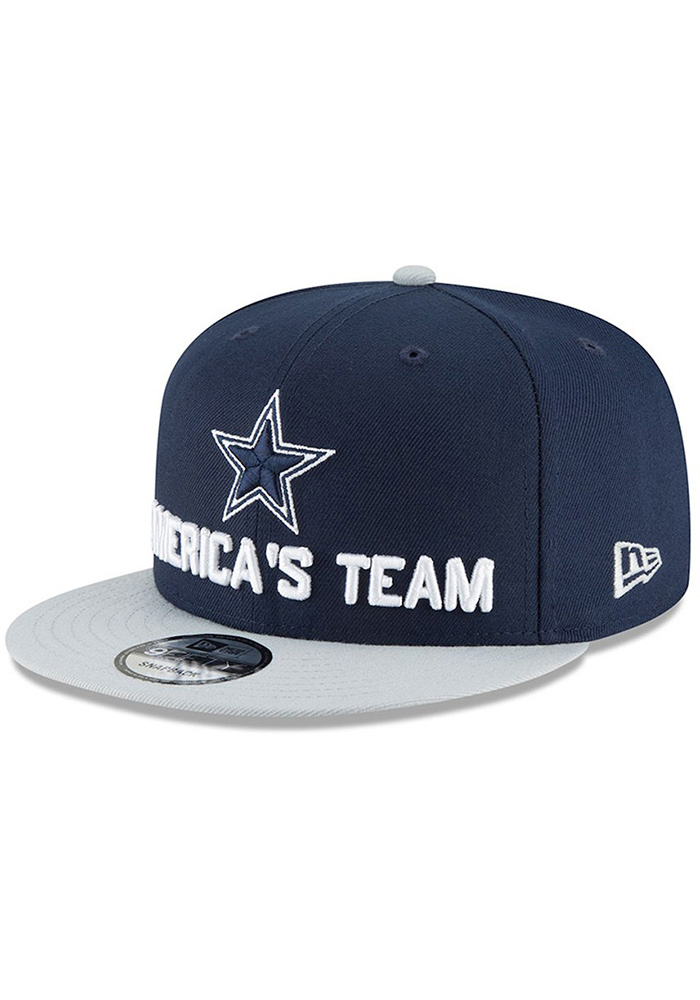 Dallas Cowboys Navy Blue 2018 Spotlight Draft 9FIFTY Youth Snapback Hat - Image 1